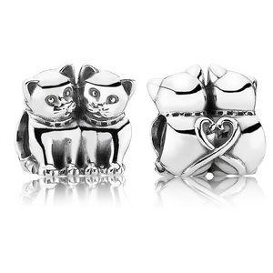 Pandora 🌷Purrfect together kittens charm